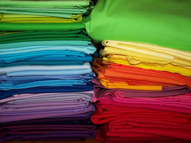 Rainbow Fabric Stash