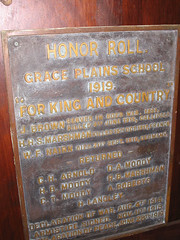 Grace Plains School WW1 Honor Roll