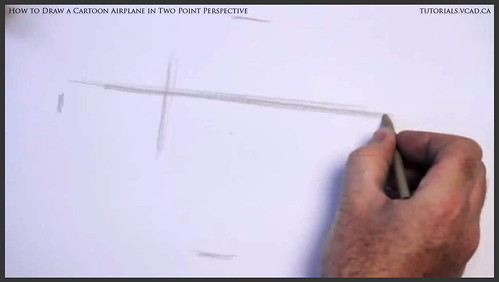 learn how to draw a cartoon airplane in two point perspective 001