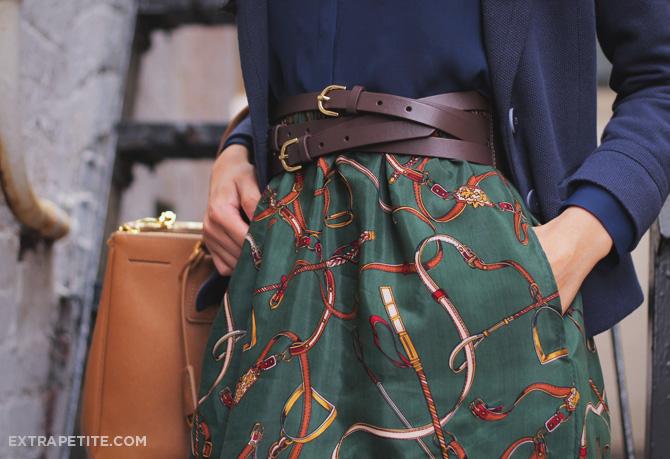 equestrian print skirt2