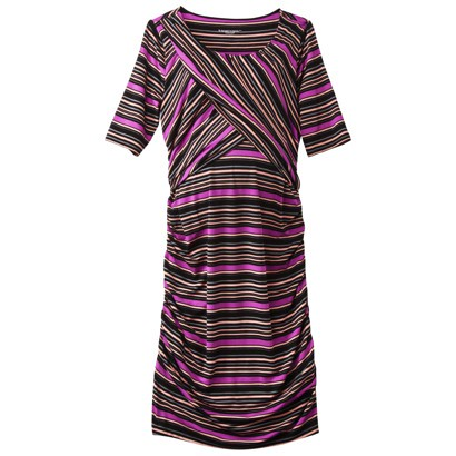 Maternity Dress on For Target   Maternity Elbow Sleeve Contoured Dress   Pink Black Red