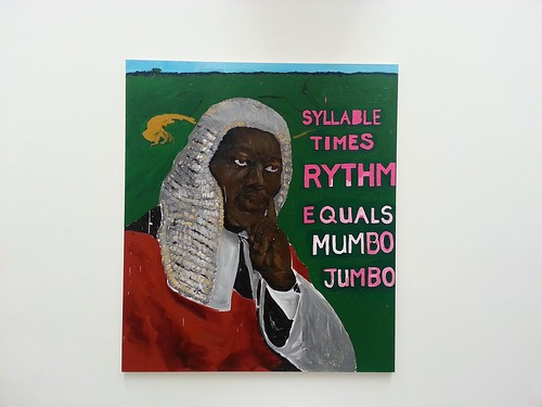 I Was King, When I Met The Queen - Syllable X's Rythm Equals Mumbo Jumbo, 2013 by Henry Taylor.