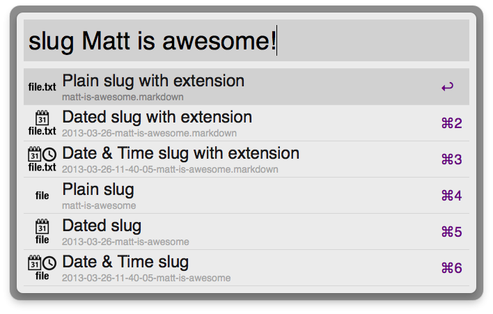 Slugs with file-extensions