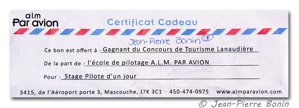 Stage Pilote d'un jour * Pilot for a day course - ALM Par Avion, Mascouche (CSK3)
