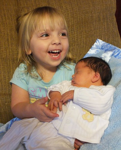 Big Sister Phoebe and Jackson