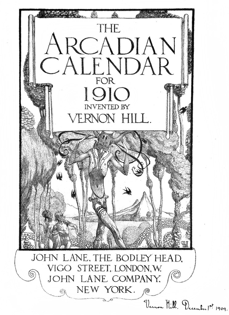 Vernon Hill - The Arcadian Calendar For 1910, Title Page