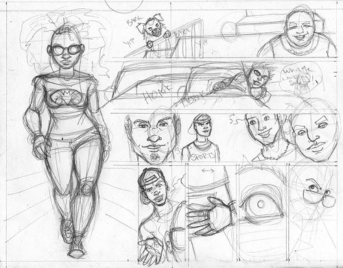 in progress page from hollaback comic