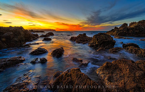 blue sunset red newzealand nature landscape gold sundown titahibay sxbaird stewartbaird