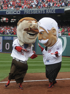 Teddy Roosevelt and his new presidents race nemesis William Howard Taft