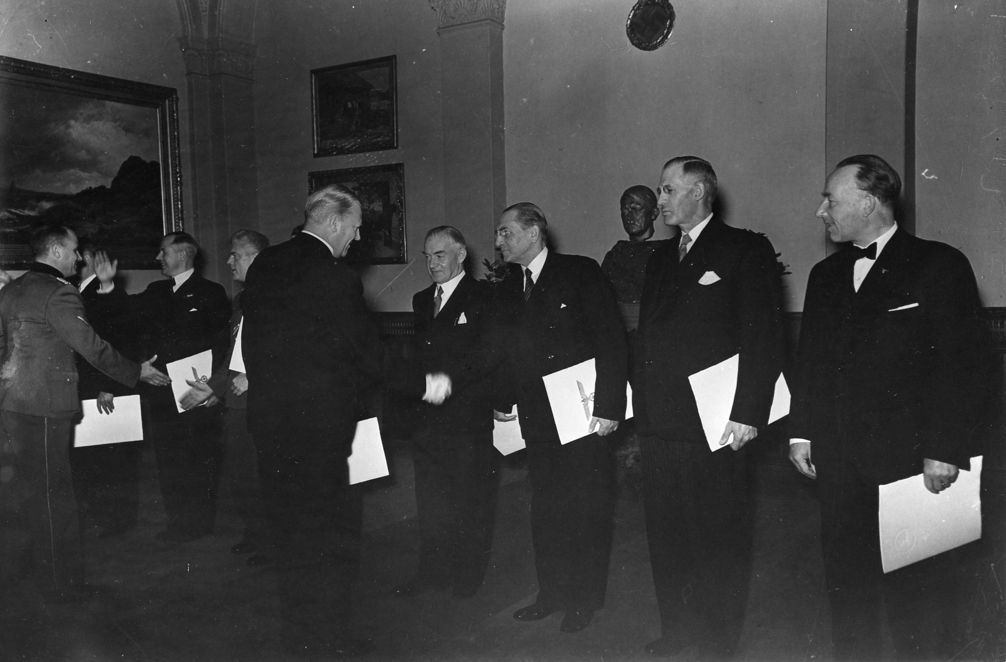 Ministerernennung. Stortinget. 1942/02/01.