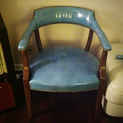 After a day with very few victories, this shines brightly. I found this chair out by the dumpster and now it is in my home. I love it.