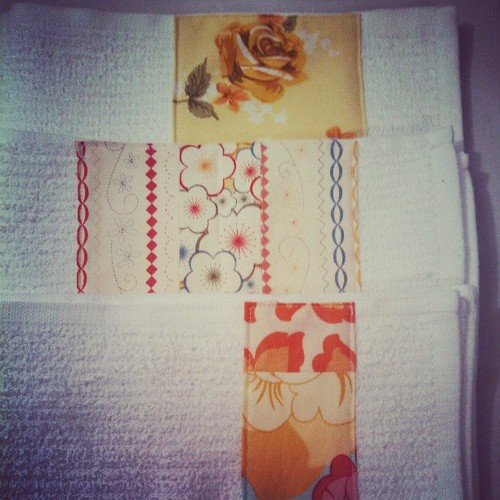 Not your average kitchen towels! Random sewing afternoon!