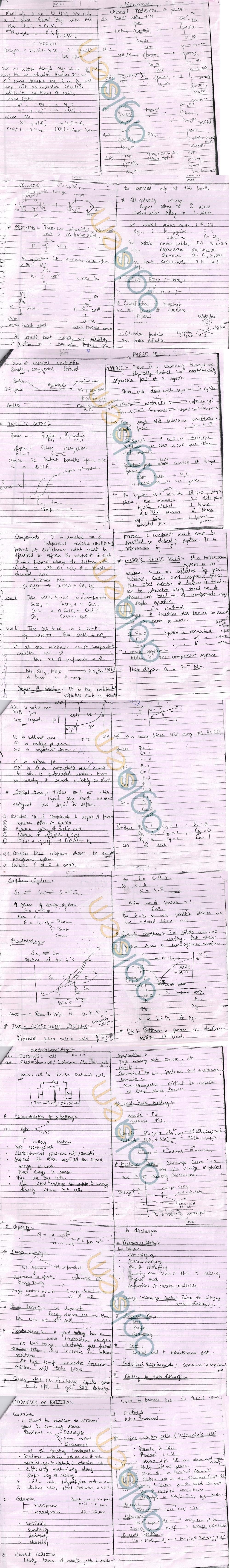 DTU: Notes - 1 Sem  - Chemistry Bio Phaserule