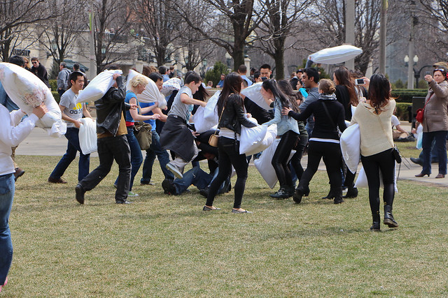 Brought a Camera to a Pillow Fight