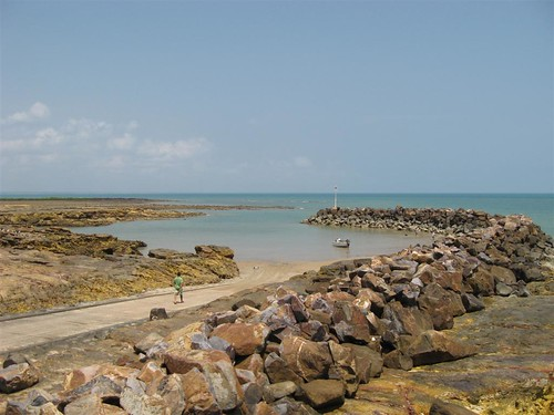 Nightcliff boat ramp at low tide