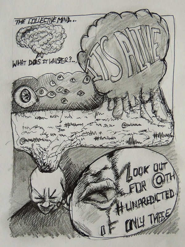 Hive-mind Fortune-reader as a graphic novel