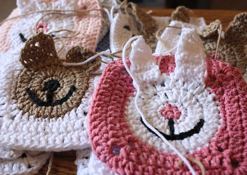 Crochet animal squares