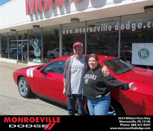 Monroeville Dodge would like to say Congratulations to Larry Smearman on the 2013 Dodge Challenger by Monroeville Dodge