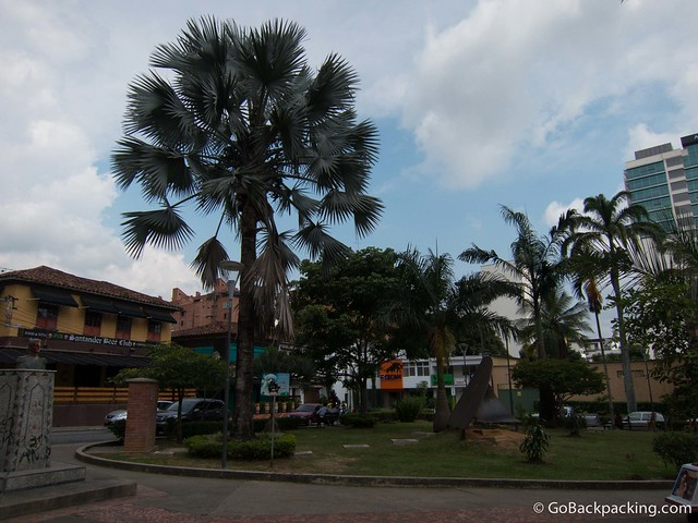 Parque Las Palmas is surrounded by bars and restaurants, making it a popular nightlife spot
