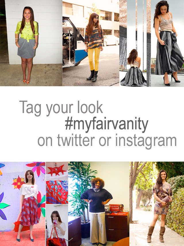 tag your look my fair vanity on twitter or instagram for shoutout