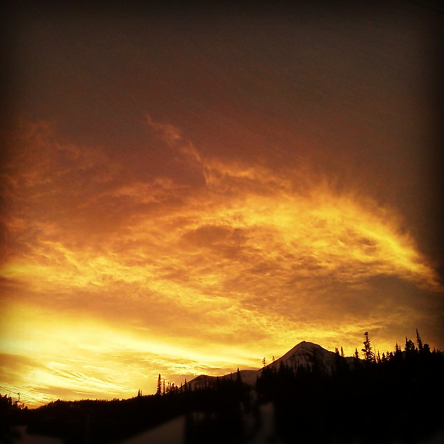 Sunset Over Lone Peak 1-19-13