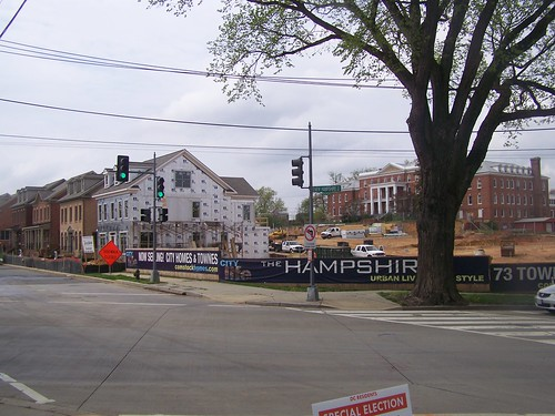 New houses being constructed at the old Methodist Home, Peabody Street NE