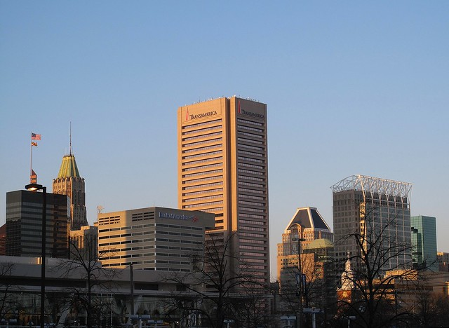 Baltimore skyline in the magic hour
