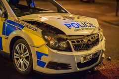 Police Car Collision, Luton