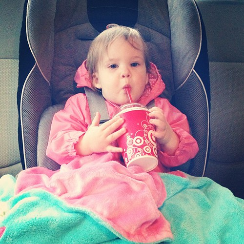 First taste of Coke Icee. #momoftheyear