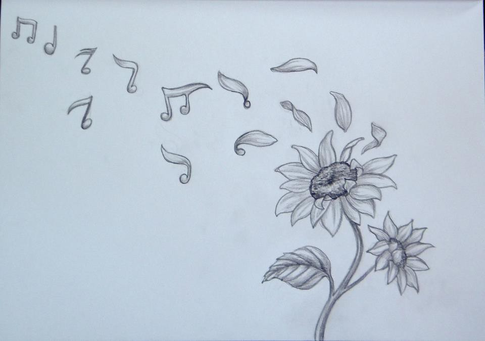 Sunflowers And Music Tattoo Design A Commissioned Work To Flickr
