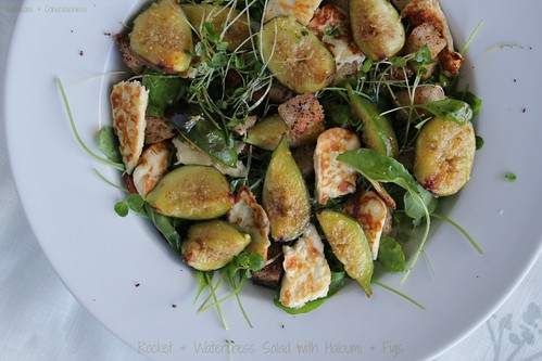 Rocket & Watercress Salad with Haloumi & Figs 1