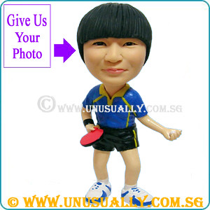 Custom 3D Table Tennis Player Bobblehead Clay Figurine - @www.unusually.com.sg