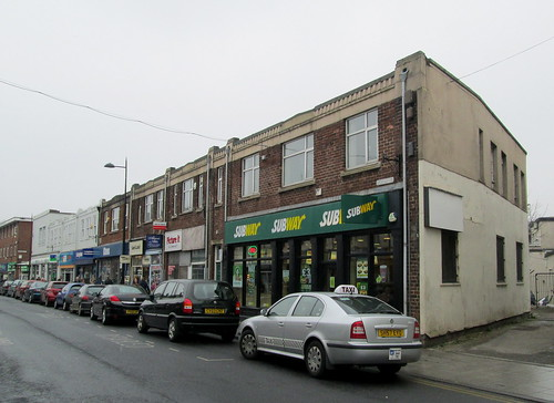Row of Art Deco shops, Workington