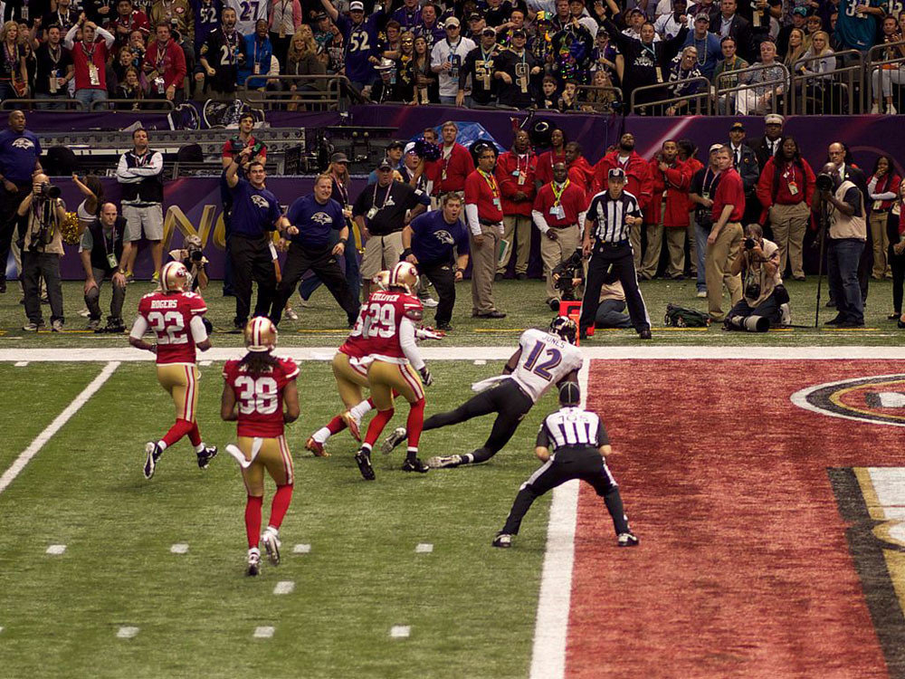 Jacoby Jones Touchdown Super Bowl XLVII