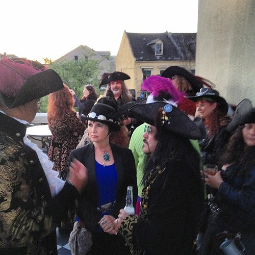 Mingling before the pirate dinner