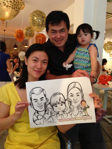 caricature live sketching for birthday party - 7