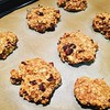 I baked! I never bake! Granted there were only 3 ingredients, but I did it! #vegan oatmeal, banana, raisin biscuits. Next time I'm adding chocolate protein powder, PB2 & chocolate chips instead of raisins! #vegan #whatveganseat