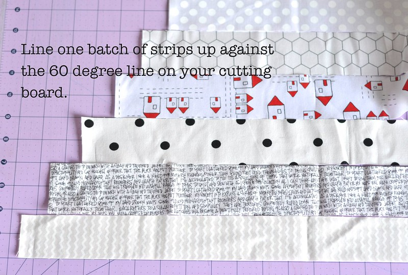 Tutorial line up 60 degree strips