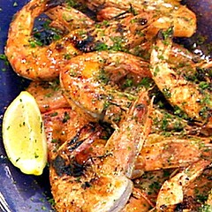 Whole Grilled Shrimp with Lemon and Marjoram
