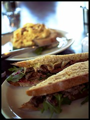 Steak Sandwich with Beetroot Relish @ Cheshire, Pr…