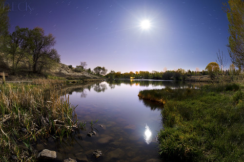 project odyssey travel reno nevada night longexposure moon fullmoon stars landscape startrails nature park water lake pond surreal reflection russell eck ngc