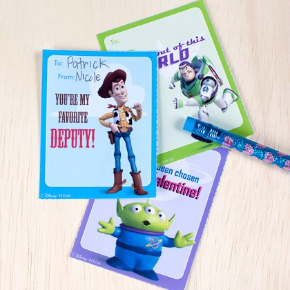 Toy Story Valentine's Cards