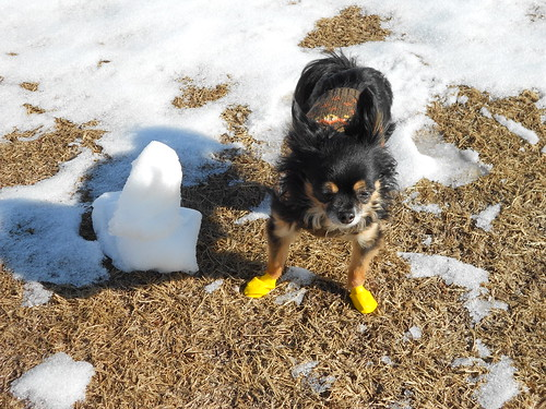 Itzl and wee snowman
