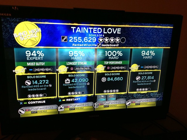 This song was so new, we made #11 on the Rock Band leaderboard! #project365