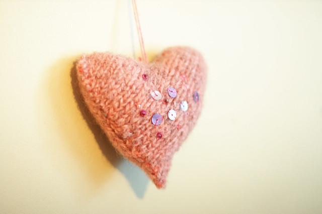 Pink Wool Heart