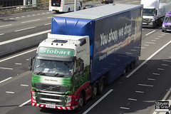 Volvo FH 6x2 Tractor - PX11 CFK - Emily Christina - Eddie Stobart - M1 J10 Luton - Steven Gray - IMG_9000
