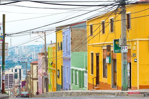 Típicas casas de colores de Valparaíso