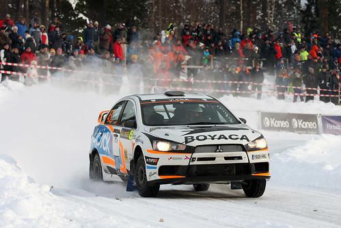 Álex Villanueva y Óscar Sánchez Rallye de Suecia 2012