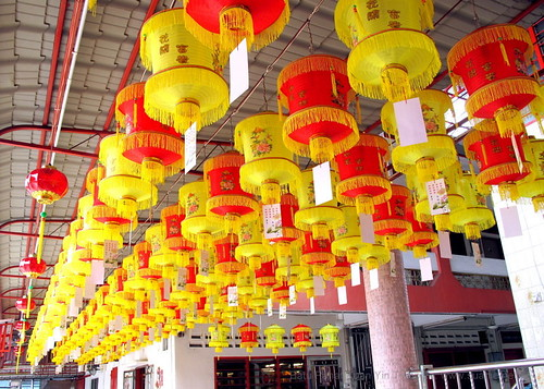 Suanie's Chinese New Year 2013 - lanterns at temple