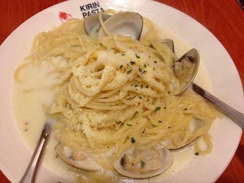 香蒜白酒蛤蜊麵